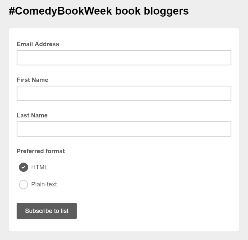 Book blogger participating form